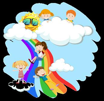 enfants ; arc en ciel